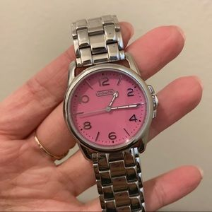 Coach Pink/Silver watch